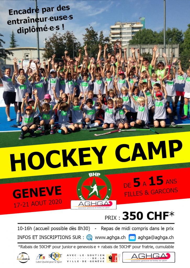 Flyer Camp AGHGA à Genève 2020
