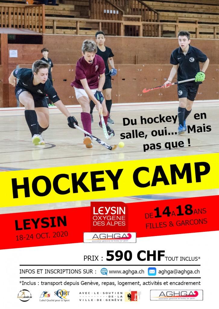 Flyer Camp AGHGA à Leysin 2020